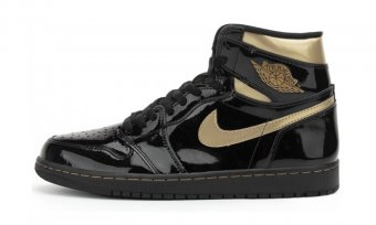 "Air Jordan 1 High ""black Metallic Gold"" 555088 032"