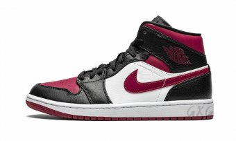"Air Jordan 1 Mid""Bred Toe""554724 066"