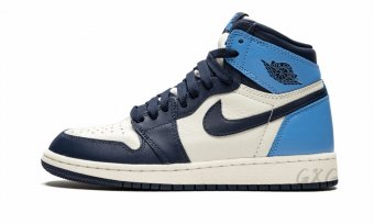 "Air Jordan 1 Retro High OG GS ""ObsidianUniversity Blue"" 575441 140"