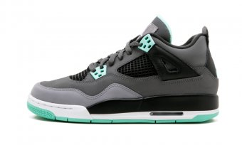 "Air Jordan 4 Retro (GS)""Green Glow"" 408452 033"