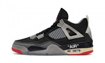Off-White Air Jordan 4 Black Red CV9388 001