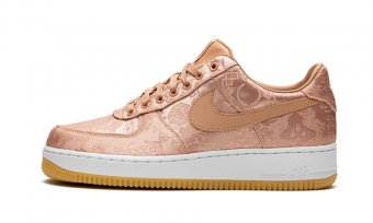 "Air Force 1 PRM""CLOT - Rose Gold Silk"" CJ5290 600"