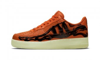 Nike Air Force 1 07 Skeleton QS Orange CU8067-800
