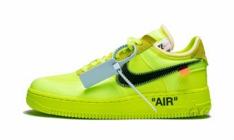 "The 10 Nike Air Force 1 Low ""Off-White Volt"" AO4606 700"